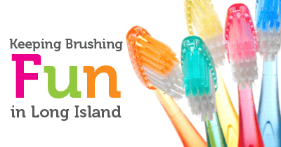 Keeping brushing fun in Long Island - image of toothbrushes