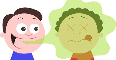 Cartoon image of bad breath