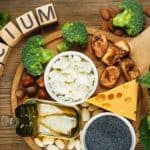 Calcium - photo of cheese, broccoli, mushrooms, etc.