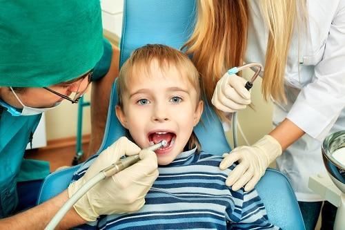 child getting dental exam