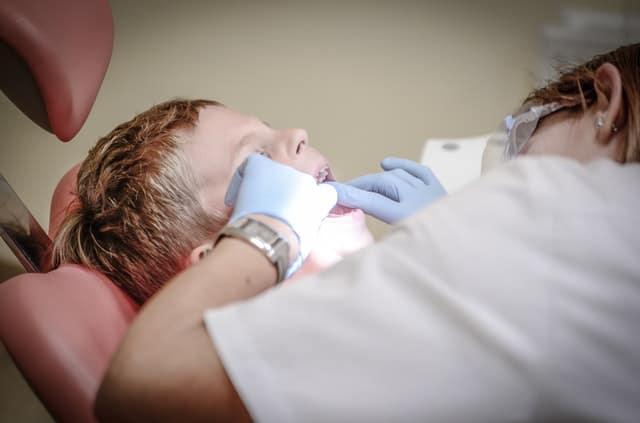 boy gets dental examn